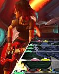 tela do jogo: Guitar Hero