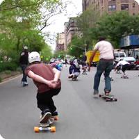 Vídeo: Broadway Bomb: Corrida de skate pelas ruas de Nova York