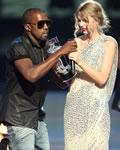 Kanye West e Taylor Swift no VMA 09