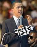 Kanye West interrompendo Barack Obama (montagem)