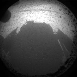 Primeira imagem da Curiosity em Marte