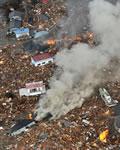 Destruição causada pelo Tsunami no Japão