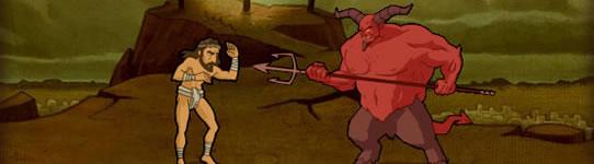 Bible fight: Satanás vs. Jesus