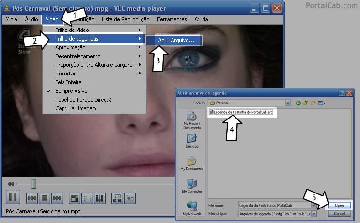 Assistindo vídeos com legenda no VLC Media Player