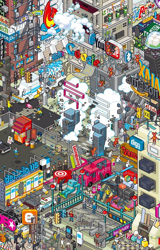 Web 2.0 - Pixel Art (Eboy Poster)