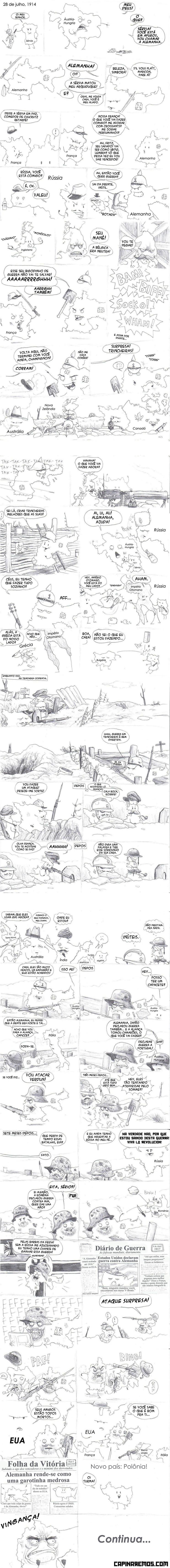 Primeira Guerra Mundial em quadrinhos