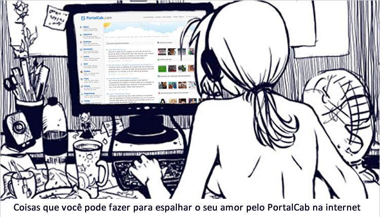Gostosa acessando o PortalCab